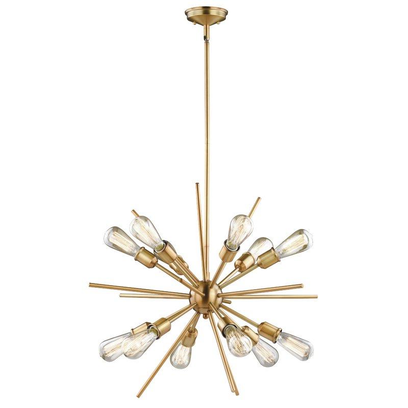 Corona 12 Light Sputnik Chandeliers Regarding Well Liked Corona 12 Light Sputnik Chandelier (Gallery 1 of 25)