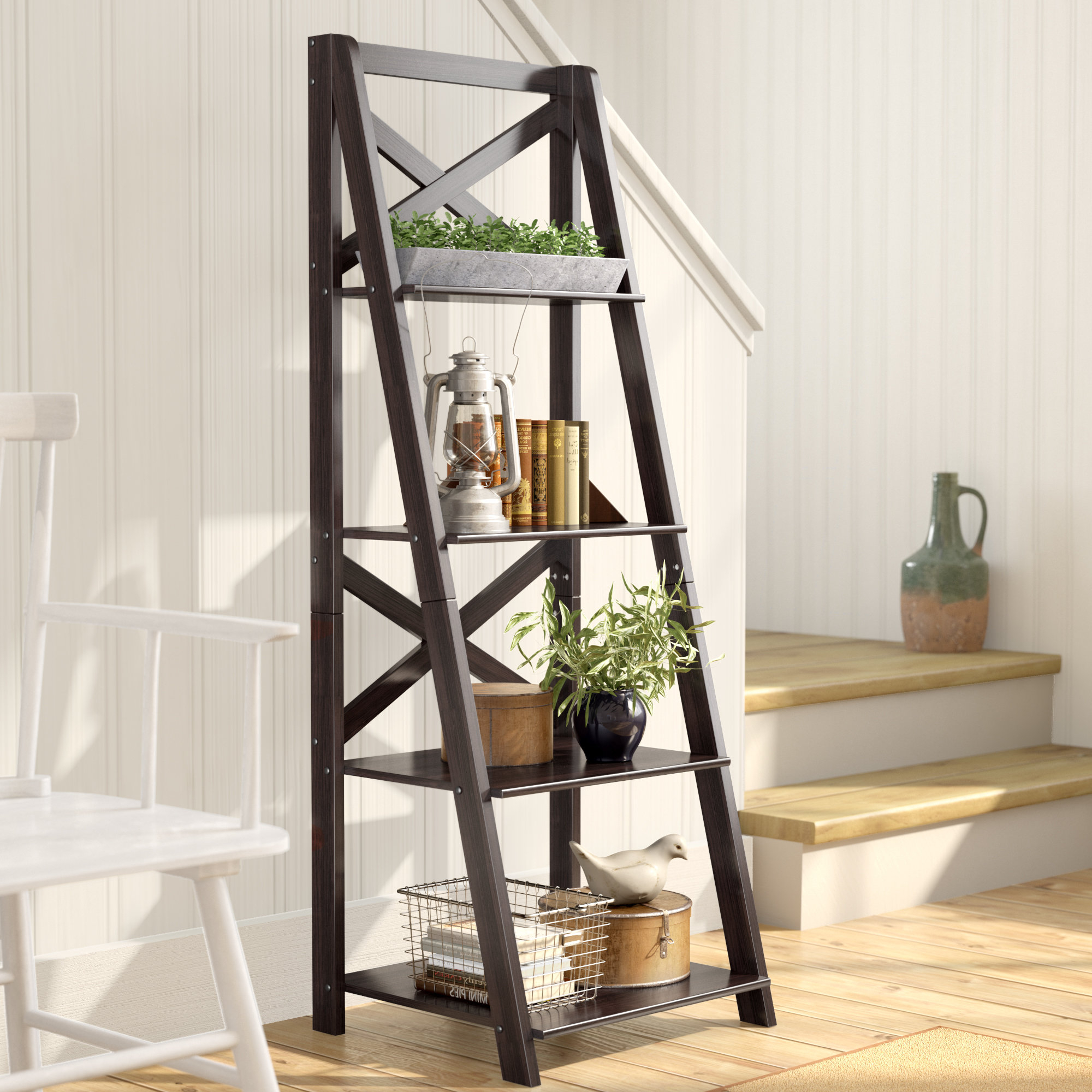 Cottage & Country Leaning Bookcases You'll Love In 2019 In Best And Newest Noelle Ashlynn Ladder Bookcases (View 6 of 20)
