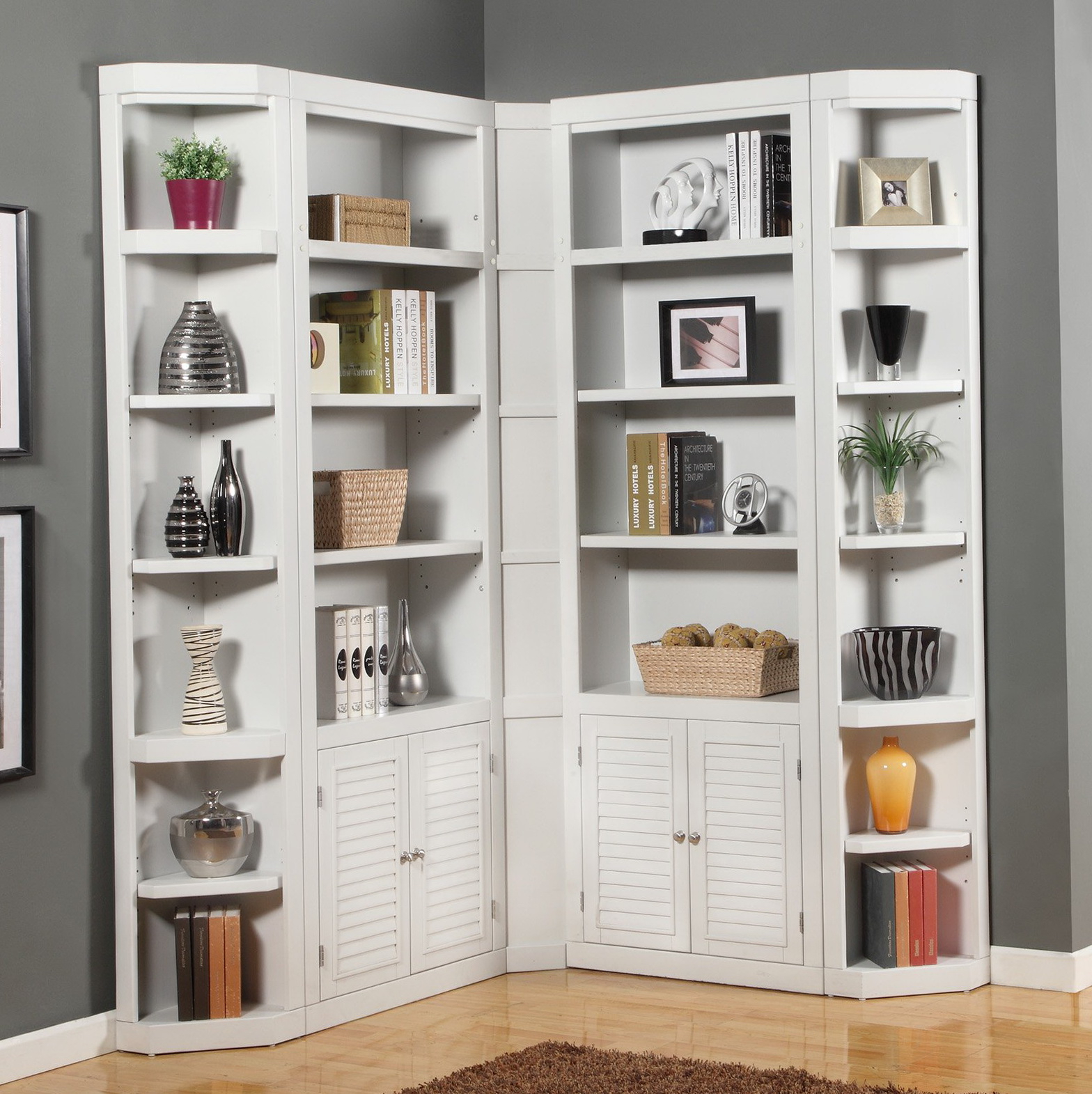 Courtdale Corner Bookcases Intended For Famous Ideas & Tips: Corner Bookcase For Enchanting Storage Design (View 16 of 20)