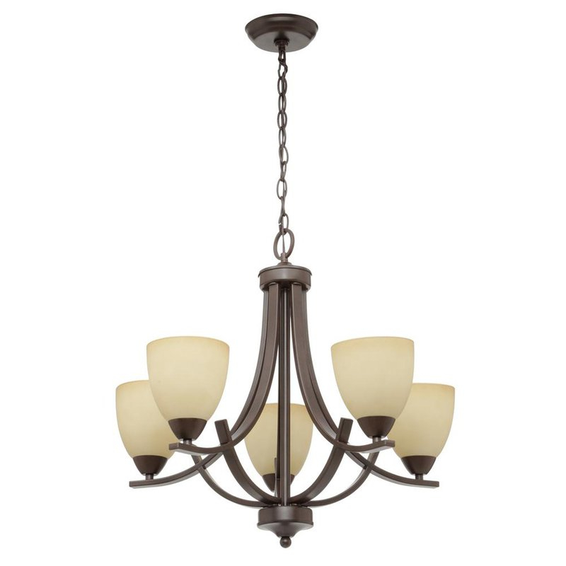 Crofoot 5 Light Shaded Chandelier With Preferred Newent 5 Light Shaded Chandeliers (View 4 of 25)