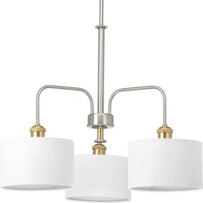Crofoot 5 Light Shaded Chandeliers Within Most Popular Progress Lighting Inspire Collection 5 Light Brushed Nickel (Gallery 24 of 25)