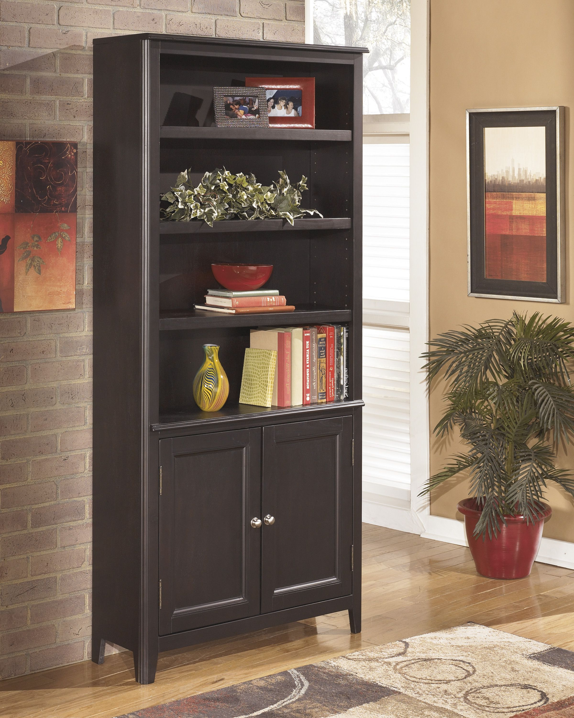 Crowley Standard Bookcases Inside Famous Carlyle – Large Door Bookcase – H371 18 Bookcases From (Gallery 19 of 20)