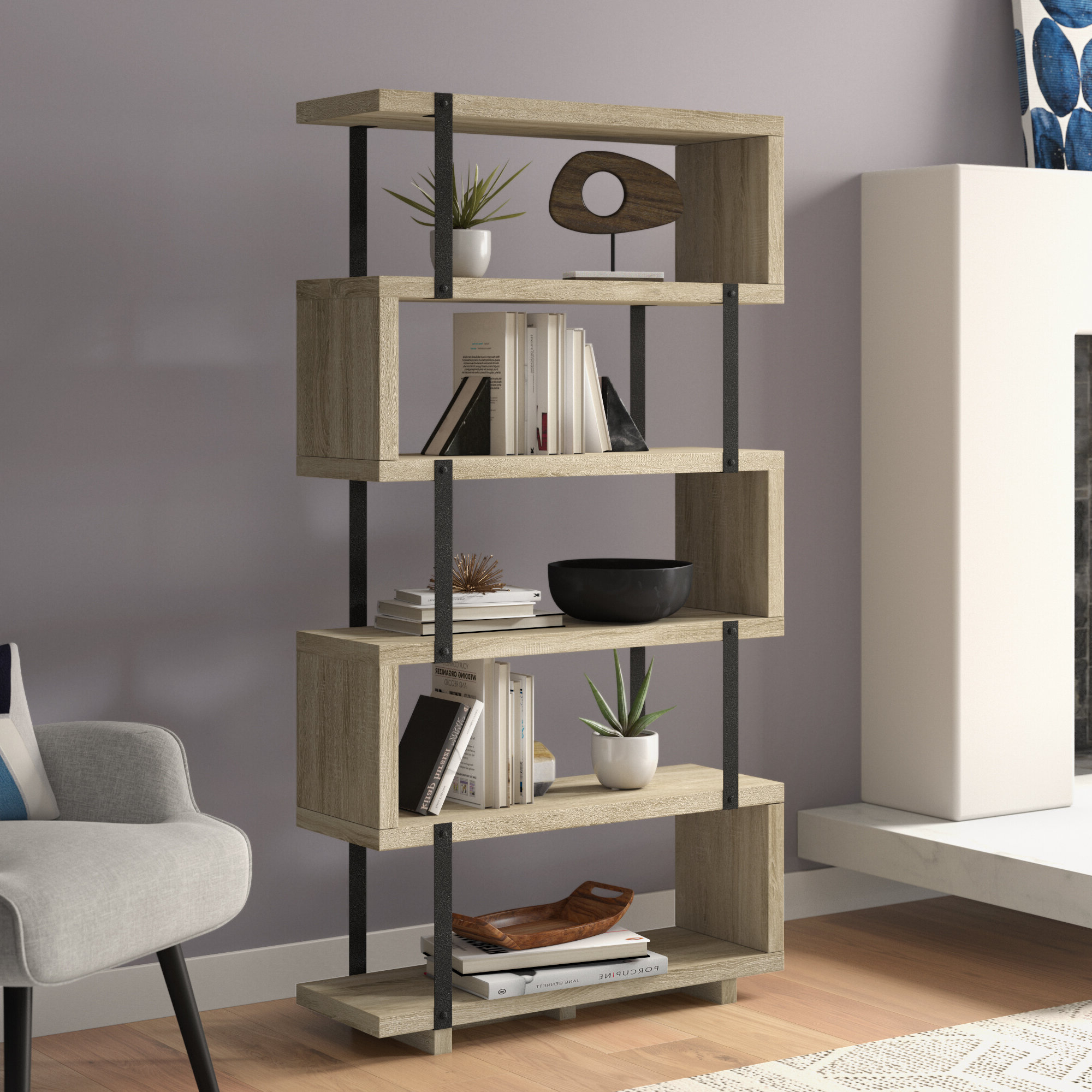 Cullison Standard Bookcases Within Well Liked Brayden Studio Nordin Standard Bookcase & Reviews (View 8 of 20)
