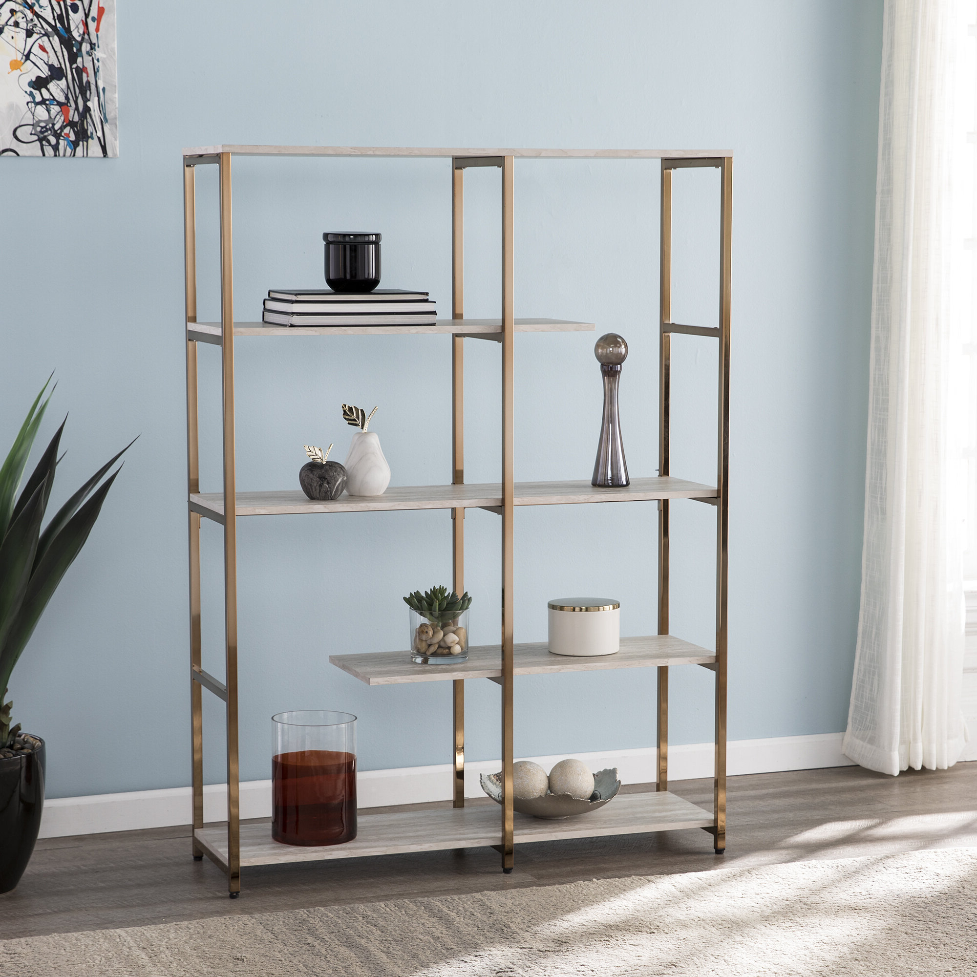 Current Baguia Etagere Bookcases With Yonker Etagere Bookcase (View 7 of 20)