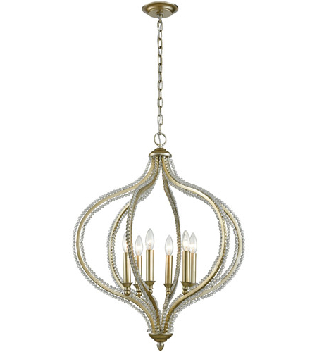 Current Bennington 6 Light 24 Inch Aged Silver Pendant Ceiling Light With Regard To Bennington 6 Light Candle Style Chandeliers (View 10 of 25)