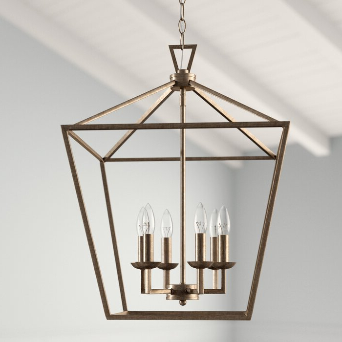 Current Carmen 6 Light Lantern Geometric Pendant Regarding Carmen 6 Light Lantern Geometric Pendants (Gallery 4 of 25)