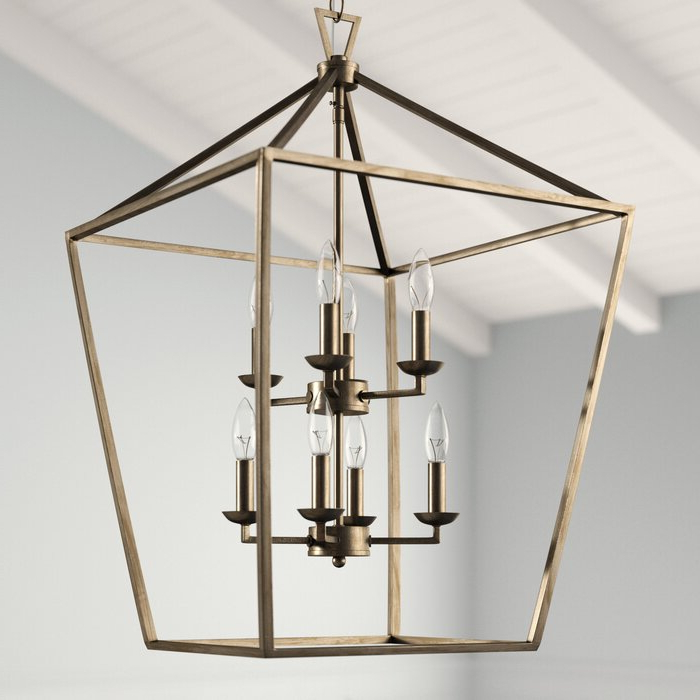 Current Carmen 8 Light Lantern Geometric Pendants With Regard To Carmen 8 Light Lantern Geometric Pendant (View 16 of 25)