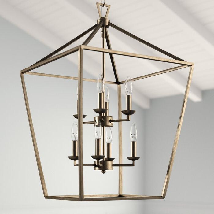 Current Carmen 8 Light Lantern Geometric Pendants With Regard To Carmen 8 Light Lantern Geometric Pendant (Gallery 4 of 25)