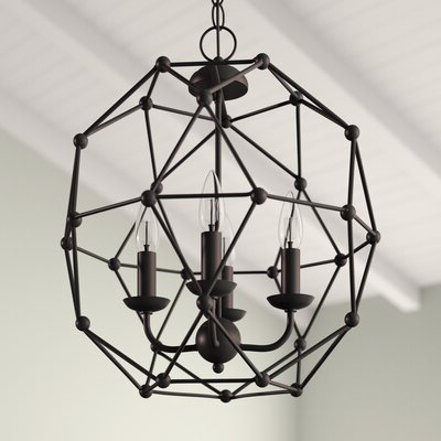 Current Cavanagh 4 Light Geometric Chandeliers Intended For Cavanagh 4 Light Geometric Chandelier (View 13 of 25)