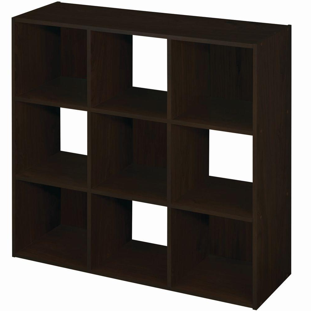 Current Cubicals Cube Bookcases Within Closetmaid 36 In. W X 36 In. H Espresso Stackable 9 Cube Organizer (Gallery 5 of 20)