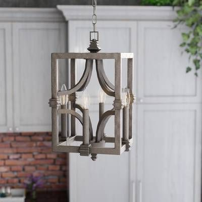 Current Destrey 3 Light Lantern Square/rectangle Pendants In Freeburg 4 Light Square/rectangle Pendant In  (View 3 of 25)