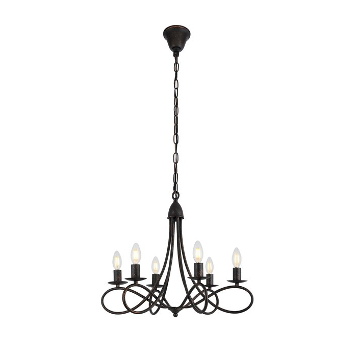 Current Diaz 6 Light Candle Style Chandelier Throughout Perseus 6 Light Candle Style Chandeliers (Gallery 13 of 25)