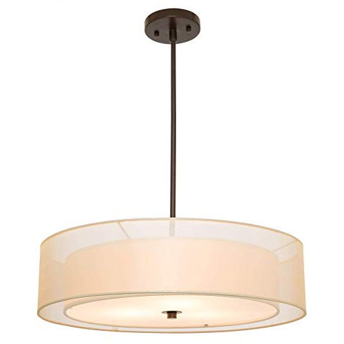Current Dimmable Drum Chandelier Lighting: Amazon Within Breithaup 4 Light Drum Chandeliers (View 14 of 25)