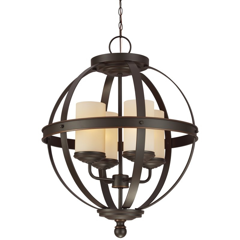 Current Donna 4 Light Globe Chandeliers Throughout Donna 4 Light Globe Chandelier (View 1 of 25)