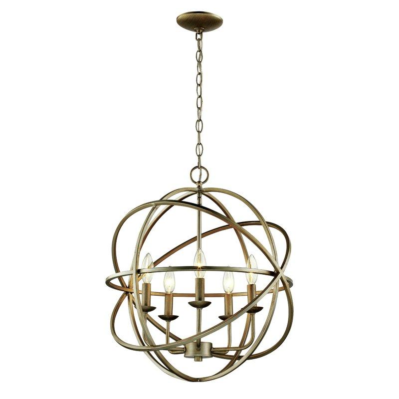 Current Hankinson 5 Light Globe Chandelier Throughout Joon 6 Light Globe Chandeliers (View 6 of 25)
