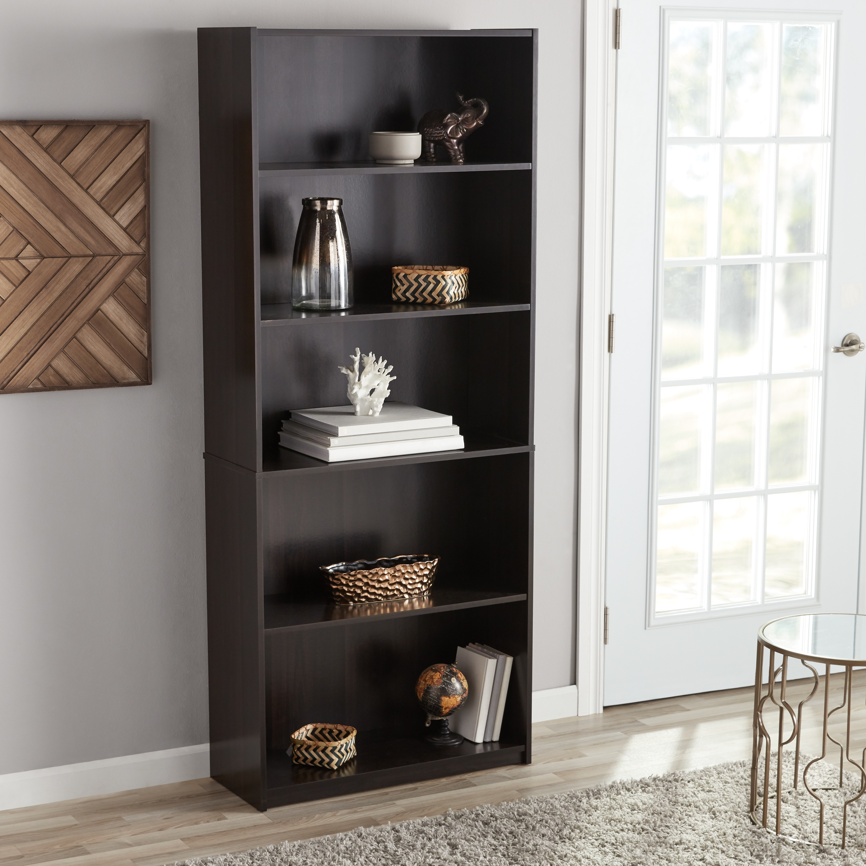 """Current Kirkbride Standard Bookcases For Mainstays 71"""" 5 Shelf Standard Bookcase, Multiple Finishes (View 12 of 20)"""