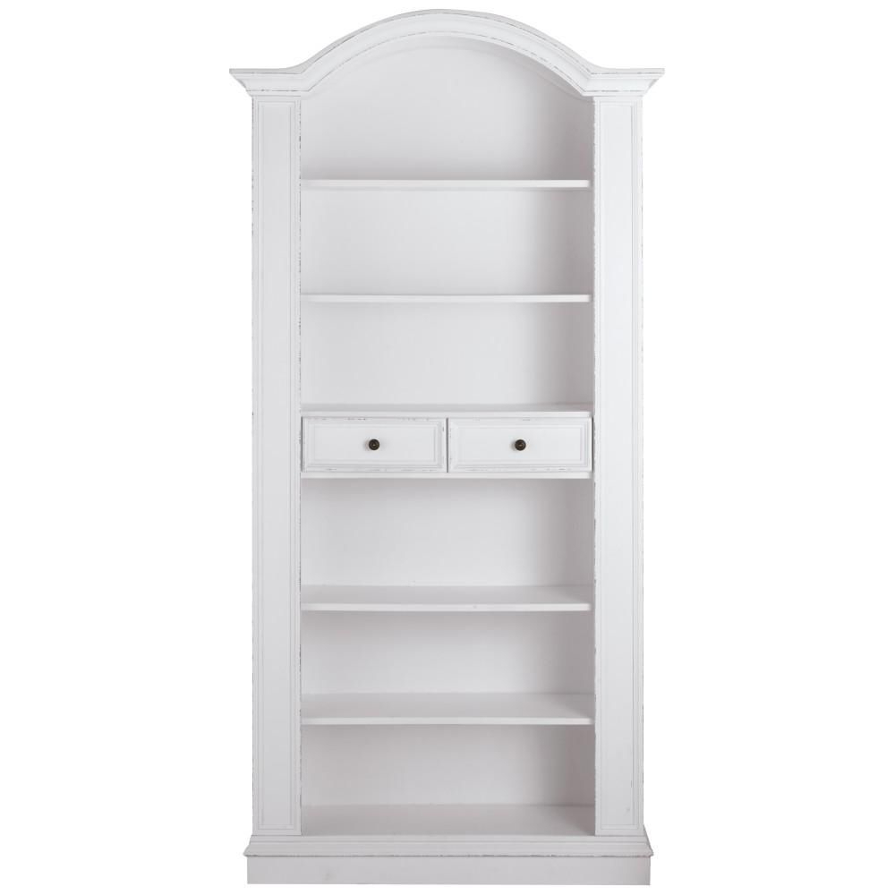 Current Mdb Standard Bookcases With Regard To Christina Antique White Storage Open Bookcase (View 5 of 20)