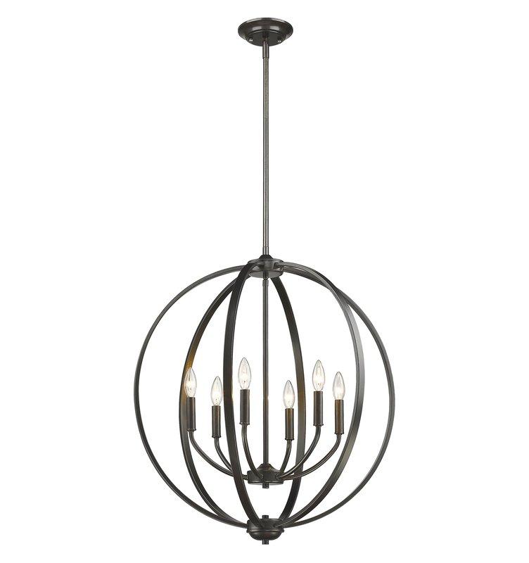 Current Morganti 4 Light Chandeliers In Earlene 6 Light Globe Chandelier (Gallery 10 of 25)