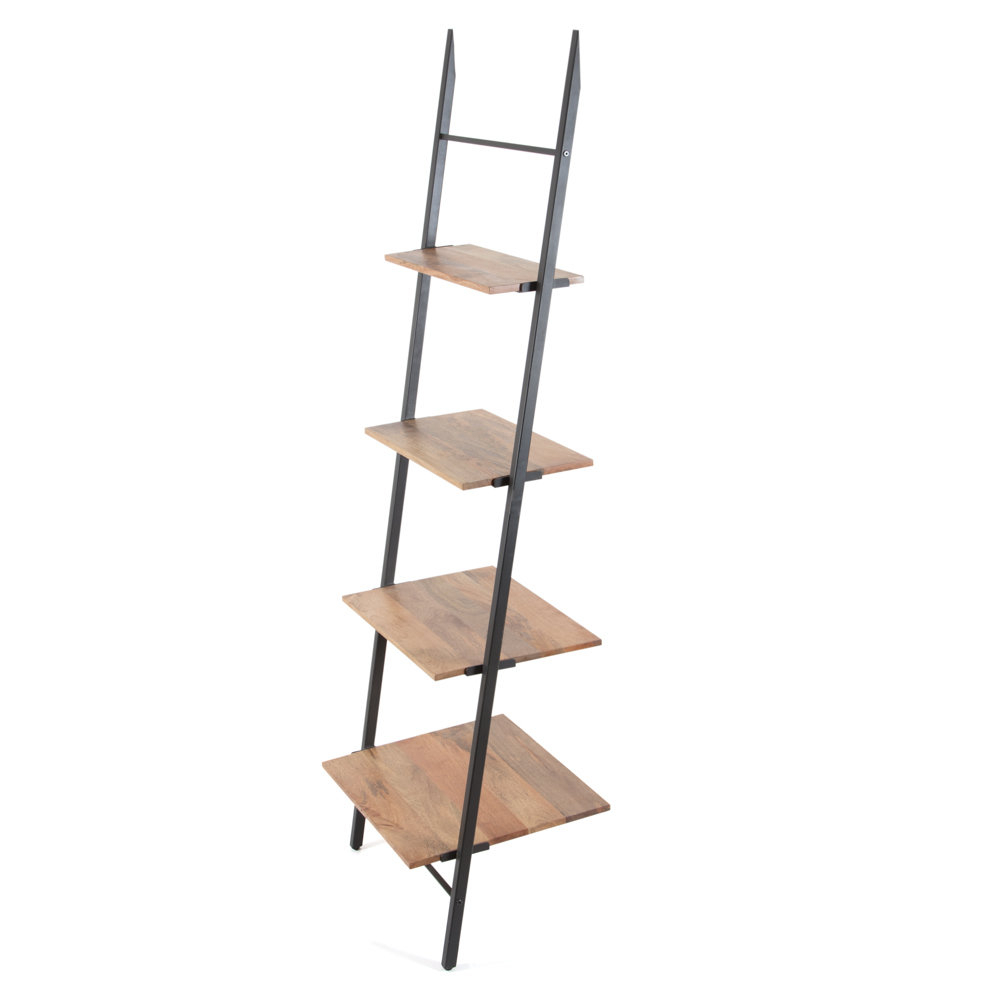 Current Moskowitz Ladder Bookcases In Barnard Claret Ladder Bookcase (View 4 of 20)