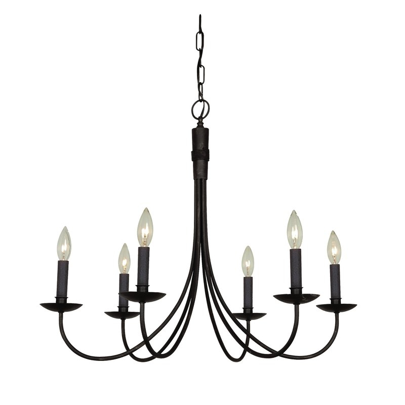 Current Souders 6 Light Candle Style Chandelier For Hamza 6 Light Candle Style Chandeliers (Gallery 9 of 25)