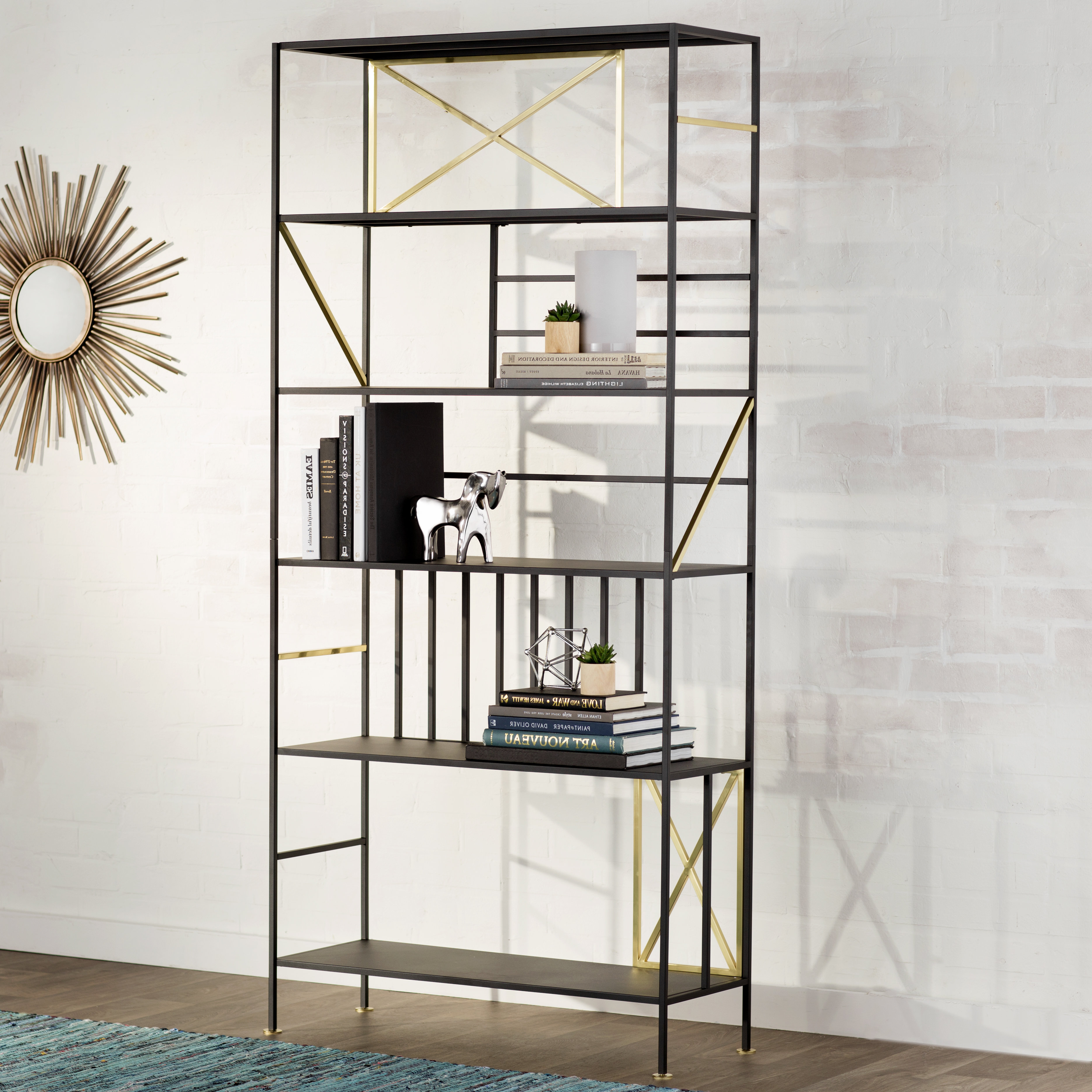 Cutlip Etagere Bookcase Inside Latest Bowman Etagere Bookcases (View 9 of 20)