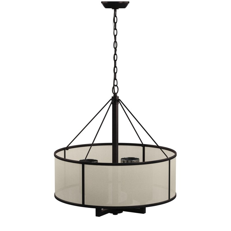 Dailey 4 Light Drum Chandelier Throughout Famous Wadlington 5 Light Drum Chandeliers (Gallery 11 of 25)