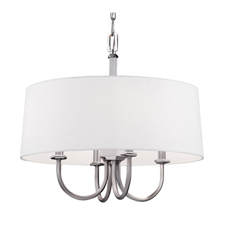 Dailey 4 Light Drum Chandeliers Within Best And Newest Feiss F3052/4Sn/pn Pentagram 4 Light 20 Inch Satin Nickel / Polished Nickel  Drum Pendant Ceiling Light (View 11 of 25)