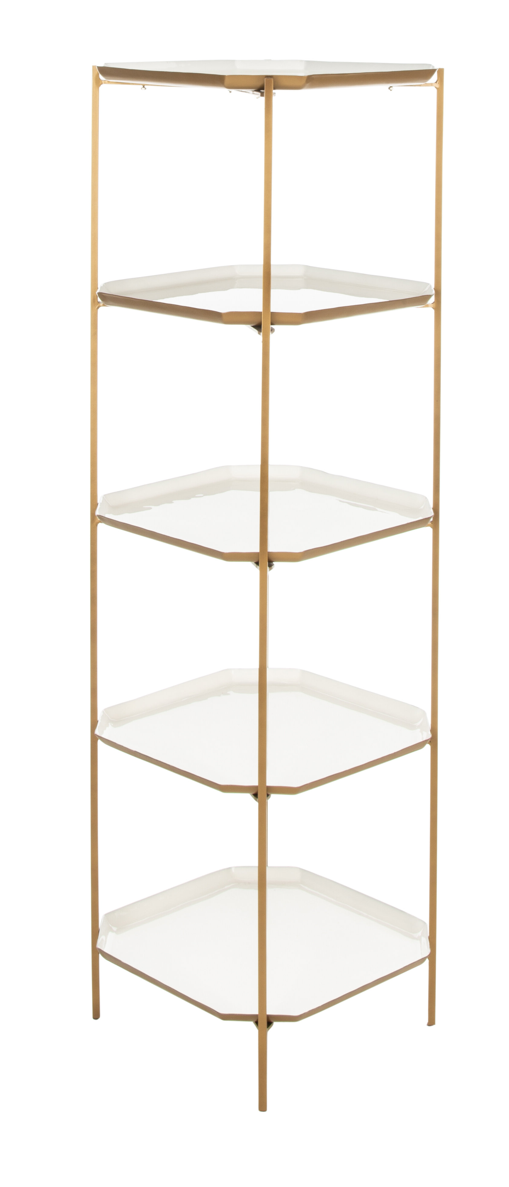 Damon Etagere Bookcases For 2020 Merced 5 Tier Etagere Bookcase (View 3 of 20)
