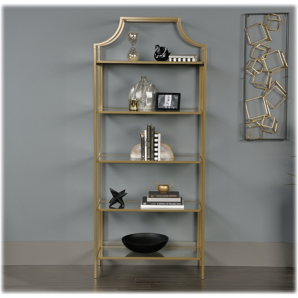 Damon Etagere Bookcases Throughout Newest Sauder – International Lux Collection 5 Shelf Bookcase (View 6 of 20)