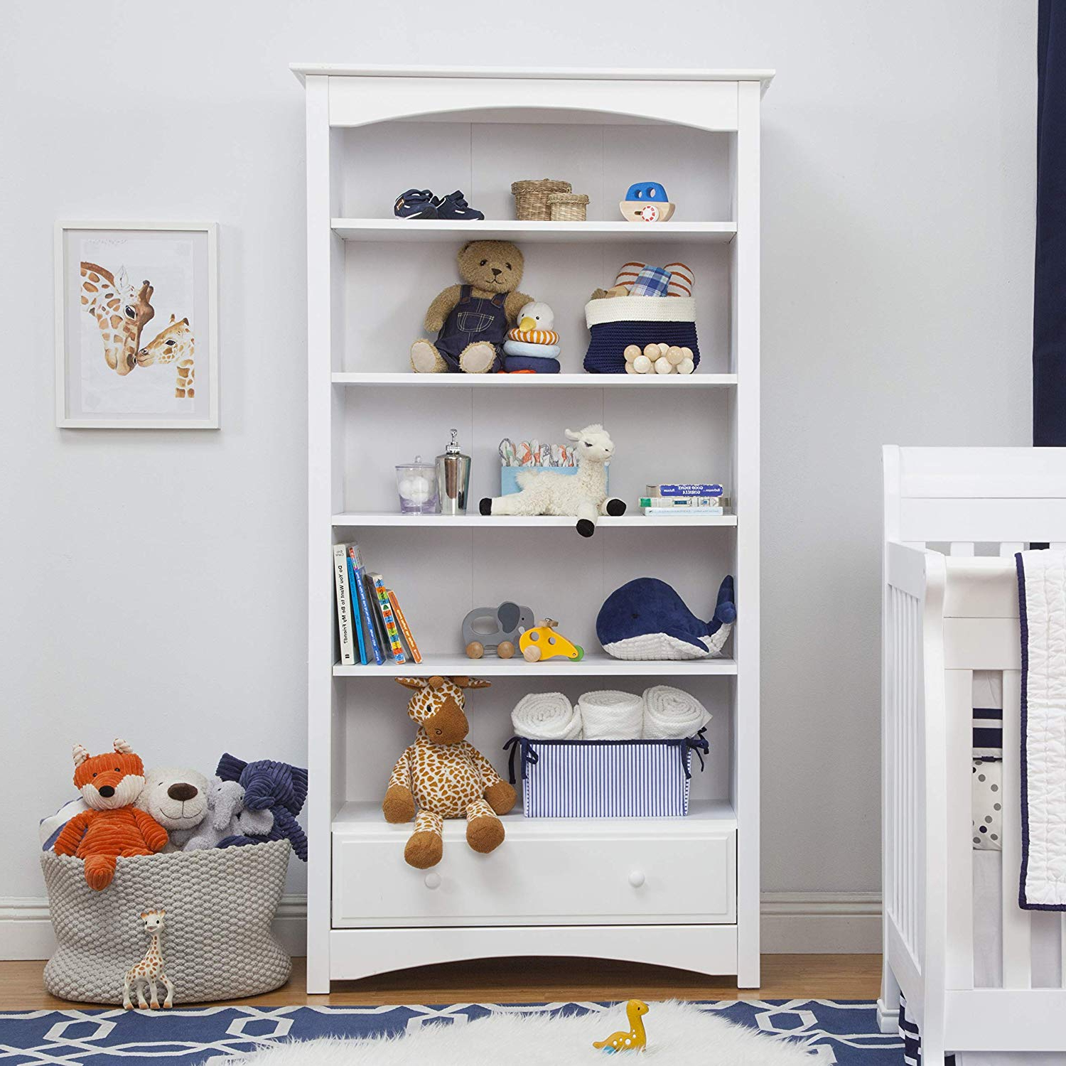 Davinci Mdb Book Case, White Intended For Well Liked Mdb Standard Bookcases (Gallery 19 of 20)