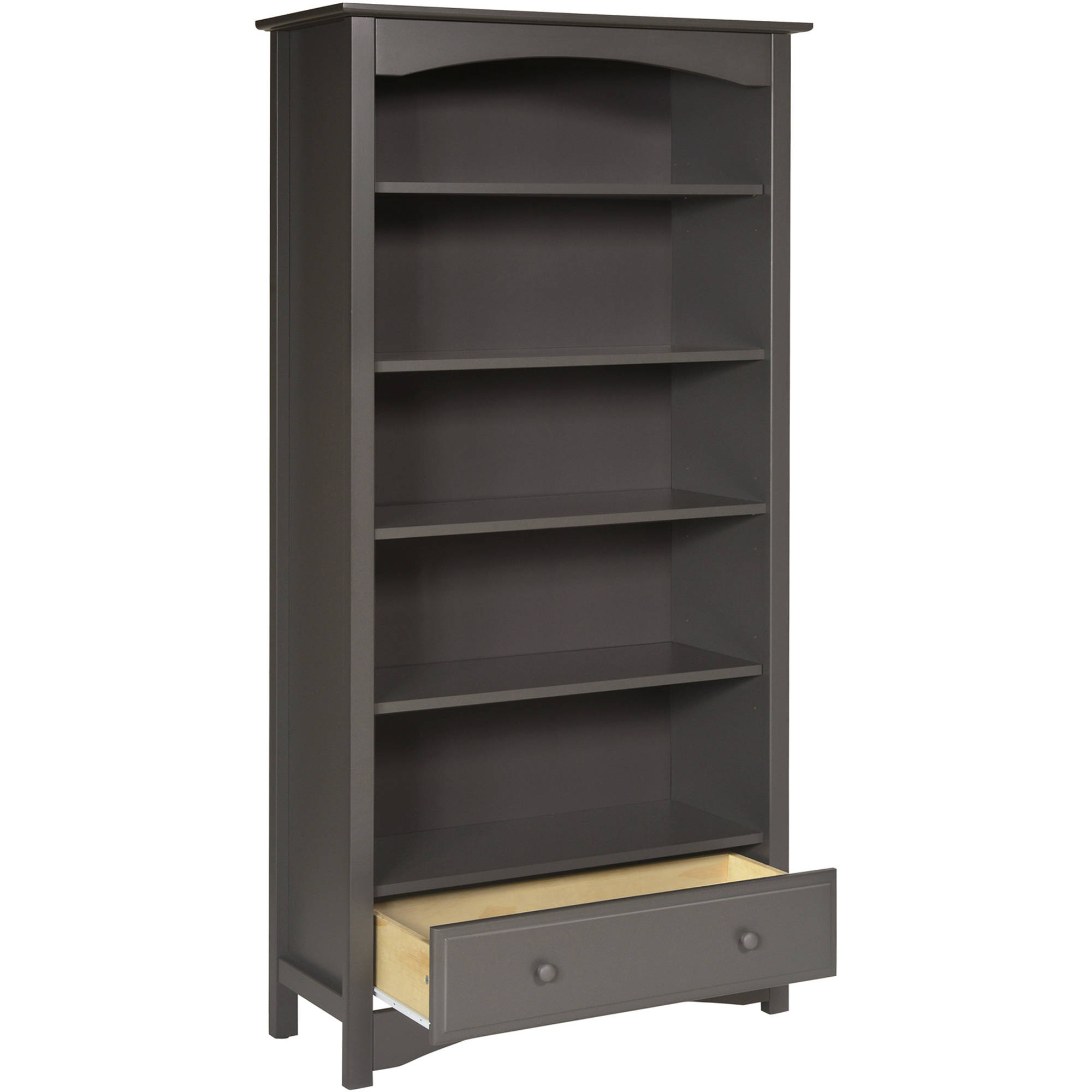 Davinci Mdb Bookcase In White Finish With Most Popular Mdb Standard Bookcases (View 5 of 20)