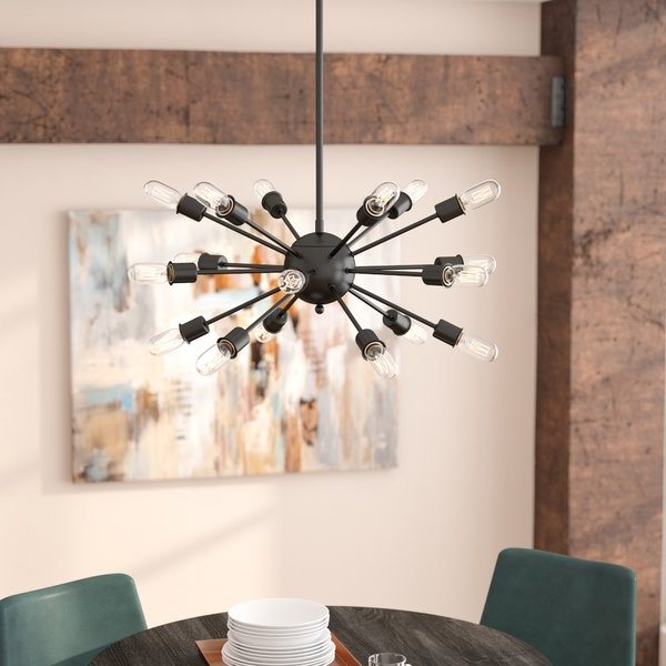 Defreitas 18 Light Sputnik Chandelier Pertaining To 2017 Defreitas 18 Light Sputnik Chandeliers (View 5 of 25)