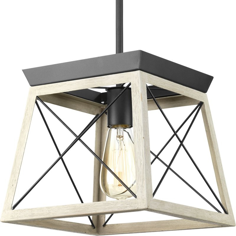 Delon 1 Light Lantern Geometric Pendants Inside Well Known Delon 1 Light Lantern Geometric Pendant (Gallery 6 of 25)
