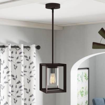 Delon 1 Light Lantern Geometric Pendants Intended For Fashionable Delon 1 Light Lantern Geometric Pendant In 2019 (Gallery 13 of 25)