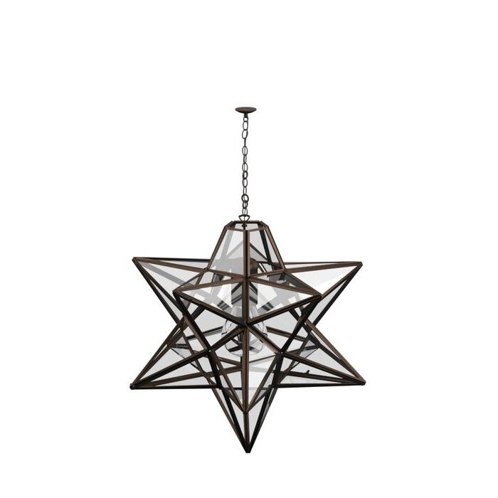 Delon 1 Light Lantern Geometric Pendants Regarding Popular 1 Light Single Star Pendant (View 9 of 25)