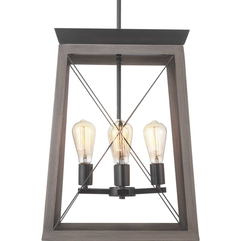 Delon 4 Light Square Chandeliers Inside Best And Newest Delon 4 Light Lantern Geometric Pendant (Gallery 12 of 25)