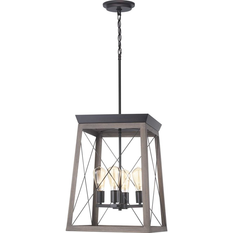 Delon 4 Light Square Chandeliers Intended For Well Known Delon 4 Light Lantern Geometric Pendant (Gallery 5 of 25)