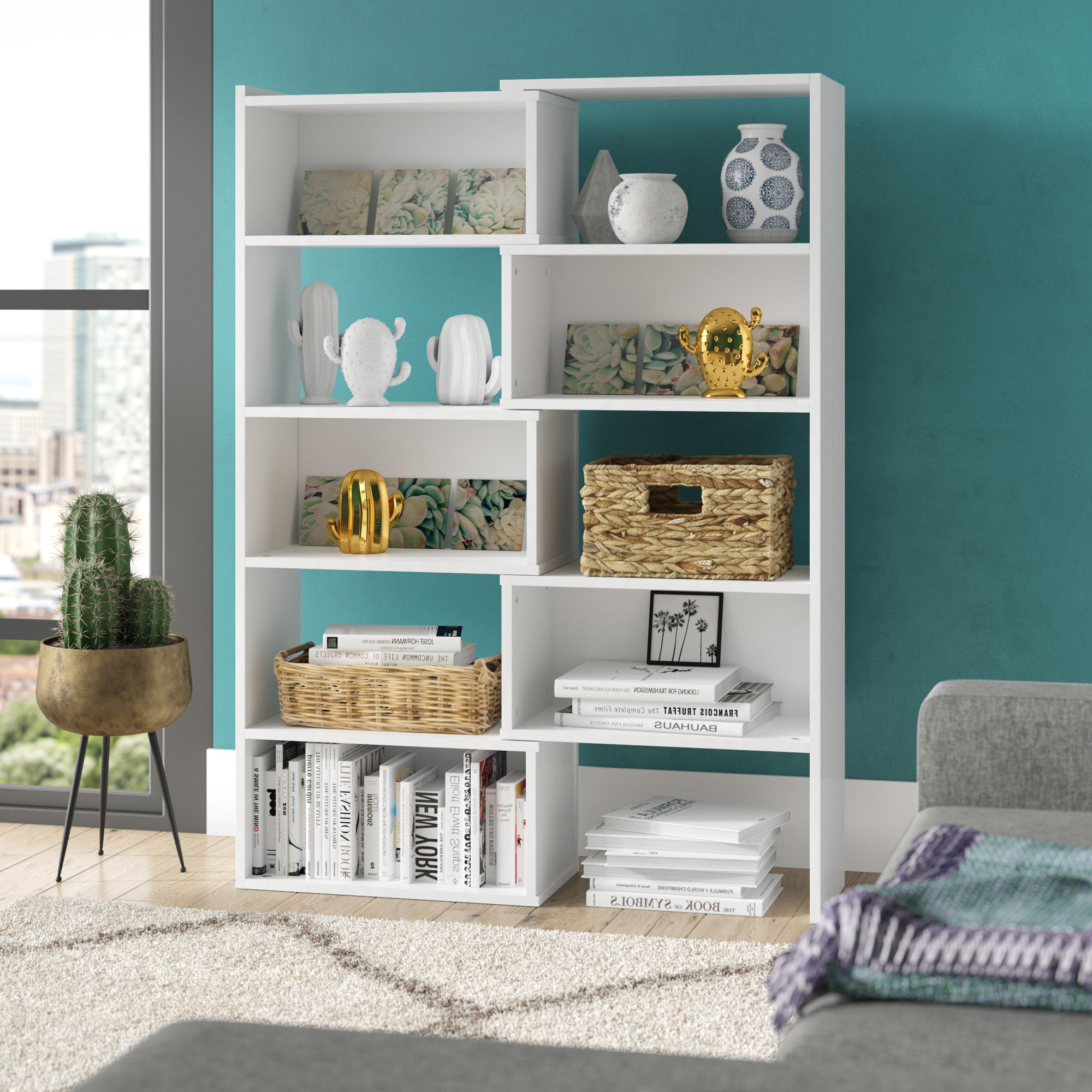 Delossantos Standard Bookcase Intended For Trendy Harkless Standard Bookcases (View 13 of 20)