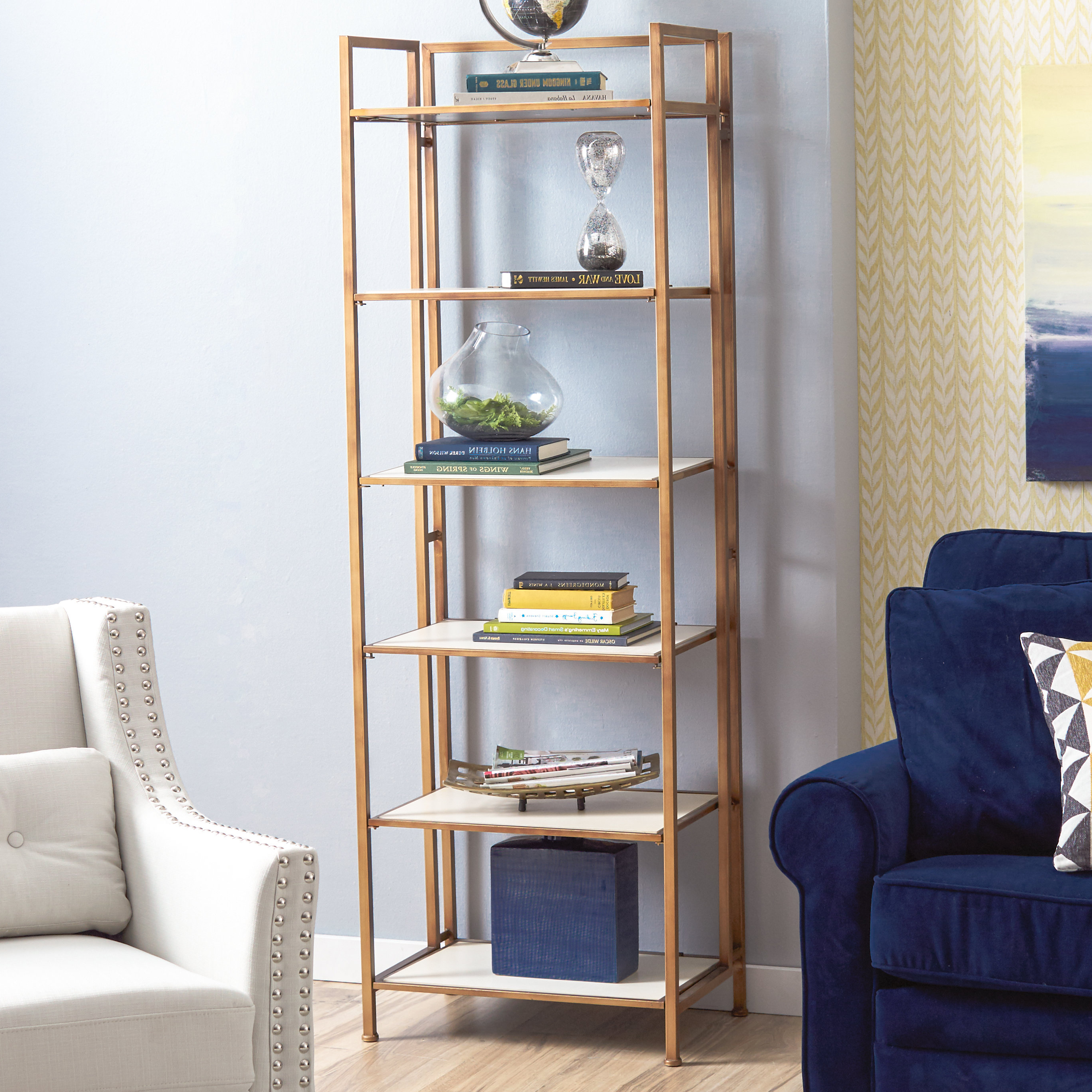 Destiny Etagere Bookcases For Fashionable Geomar Etagere Bookcase & Reviews (Gallery 14 of 20)
