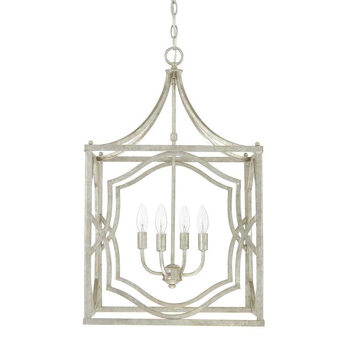 Destrey 4 Light Lantern Square / Rectangle Pendant Inside Most Up To Date Freeburg 4 Light Lantern Square / Rectangle Pendants (View 17 of 25)