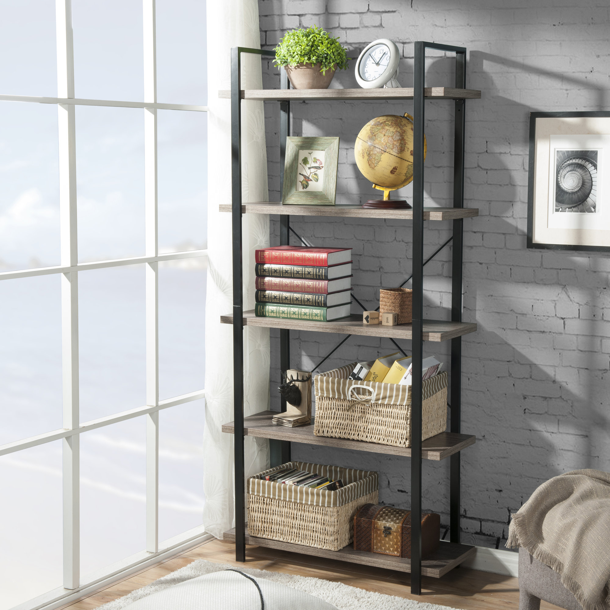 Details About Gracie Oaks Dunluce Etagere Bookcase For Latest Babbitt Etagere Bookcases (Gallery 7 of 20)