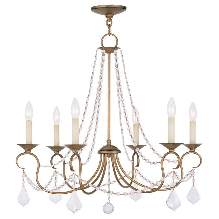 Devana 6 Light Candle Style Chandelier With Regard To Recent Bouchette Traditional 6 Light Candle Style Chandeliers (View 15 of 25)