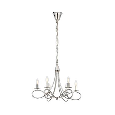 Diaz 6 Light Candle Style Chandeliers Inside Trendy Rhea 6 Light Chandelier & Reviews (Gallery 18 of 25)