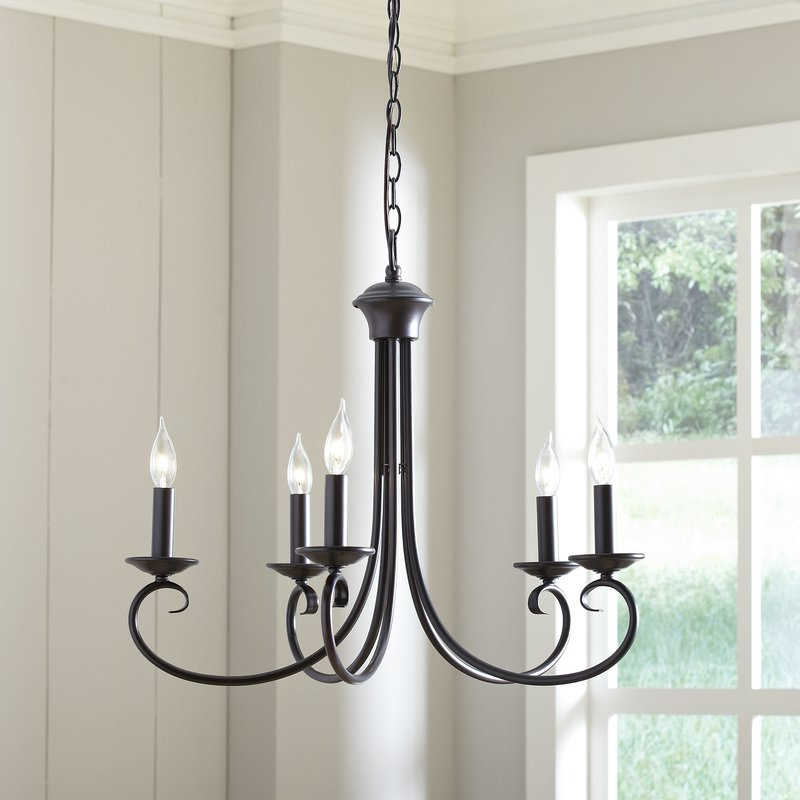 Diaz 6 Light Candle Style Chandeliers With Well Known Edgell 5 Light Candle Style Chandelier (Gallery 19 of 25)