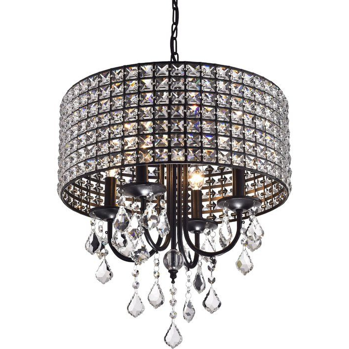 Dining Room Ideas With Regard To 2018 Albano 4 Light Crystal Chandeliers (Gallery 5 of 25)