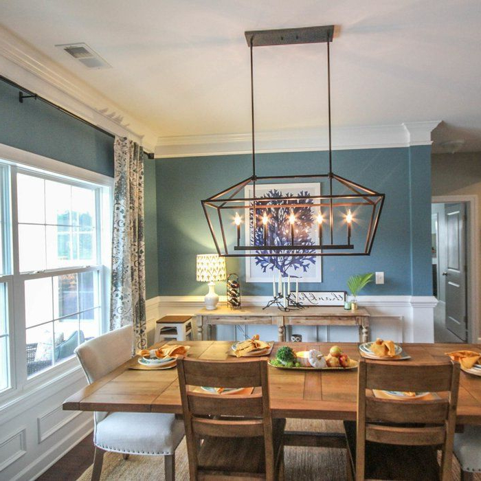 Dining Throughout Freemont 5 Light Kitchen Island Linear Chandeliers (View 6 of 25)