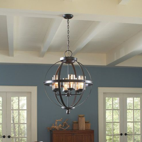Donna 4 Light Globe Chandeliers Pertaining To Preferred Donna 4 Light Globe Chandelier (View 6 of 25)