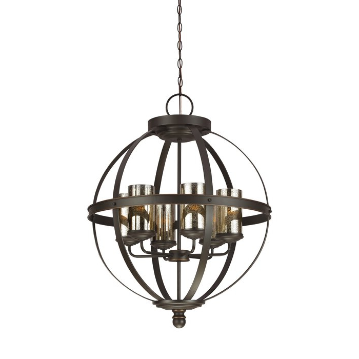 Donna 6 Light Globe Chandelier Pertaining To Well Known Donna 6 Light Globe Chandeliers (View 2 of 25)
