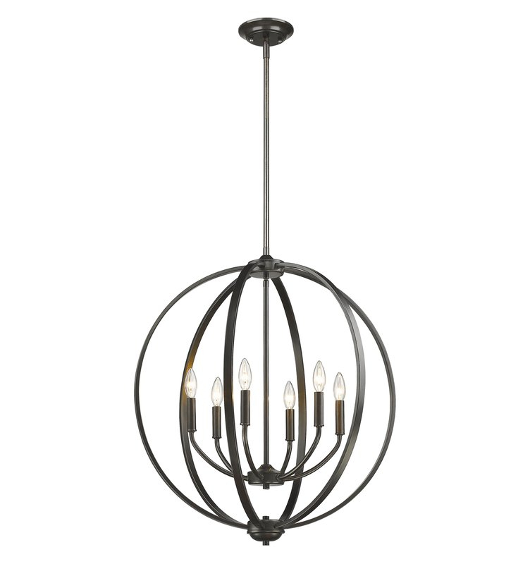 Donna 6 Light Globe Chandeliers Inside 2018 Tensed 6 Light Globe Chandelier (View 7 of 25)