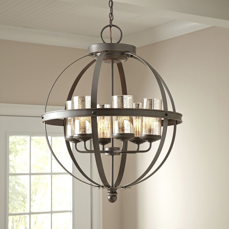 Donna 6 Light Globe Chandeliers Pertaining To Well Liked Donna 6 Light Globe Chandelier (View 9 of 25)